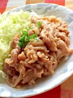 豚こま肉の味噌漬け焼き