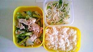 野菜と豚肉のビタミン弁当。