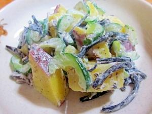 食物繊維たっぷり~さつま芋とひじきのサラダ