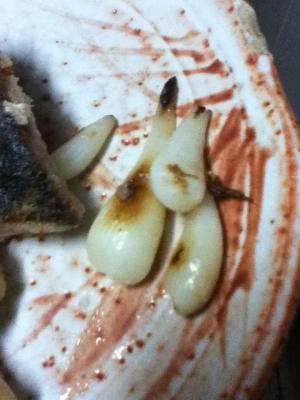 エシャロットのマーガリン焼き