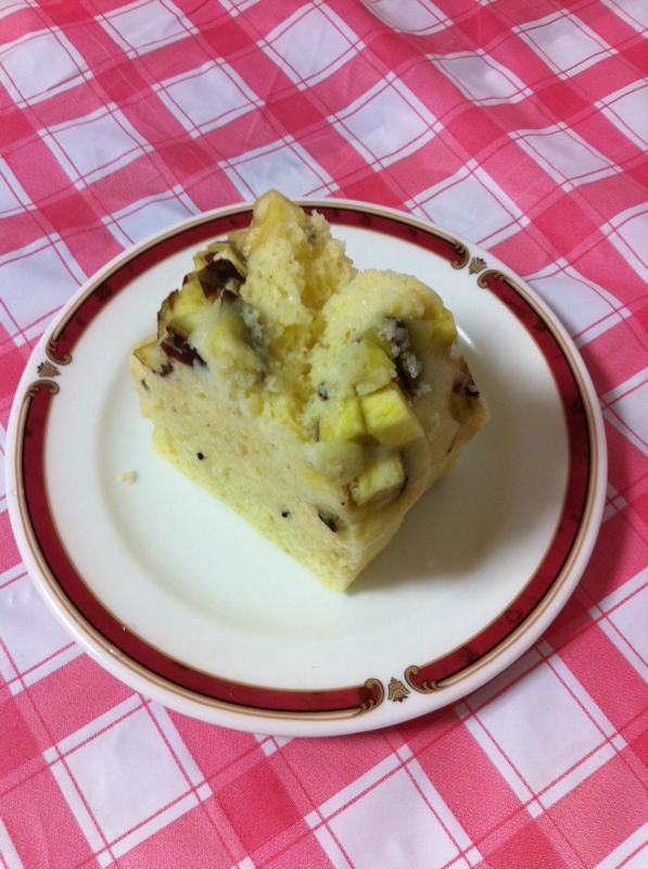 秋のスイーツさつまいも&バナナのゴマケーキ