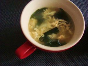 *朝の中華スープ*