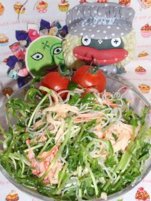 豆苗の春雨サラダ