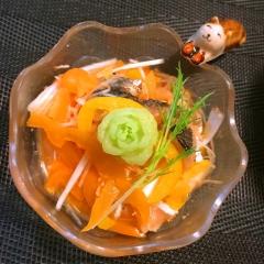 燻製さわらとパプリカの韓国風マリネ