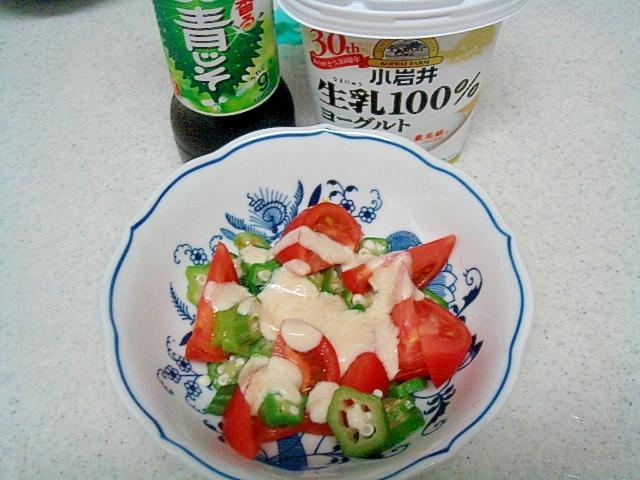 オクラとトマトのヘルシーサラダ
