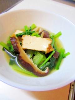 丈夫な骨つくり★厚揚げと小松菜のシンプル鍋