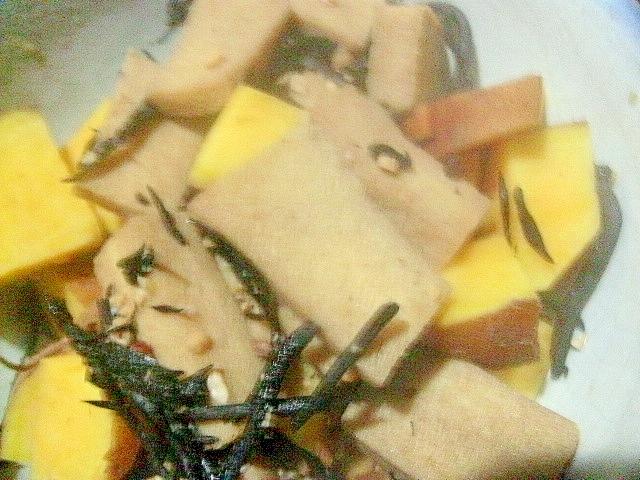 高野豆腐とさつまいものひじき煮