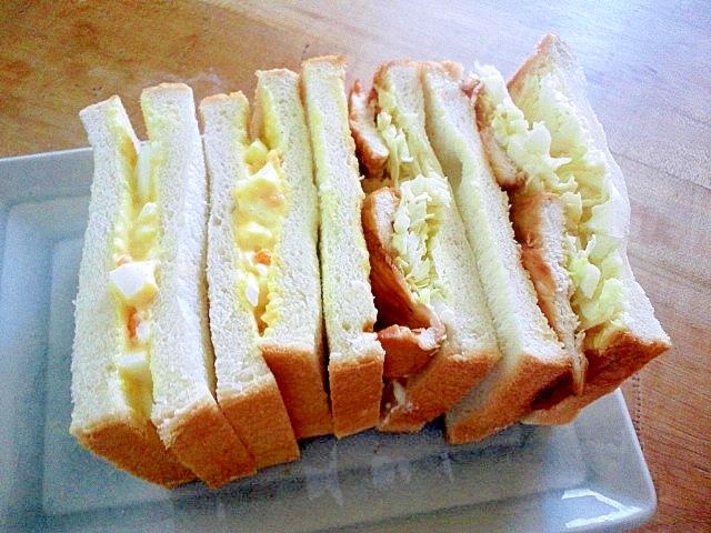 鶏肉と卵のサンドイッチ