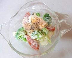 朝食に!ゆで卵とブロッコリーのサラダ!