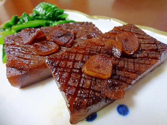 1. ガーリックバターのこんにゃくステーキ