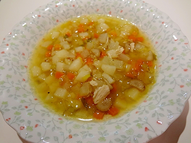 圧力鍋で☆あっという間にヘルシー野菜スープ