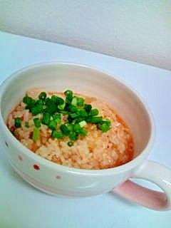 2. 味噌卵のキムチーズリゾット