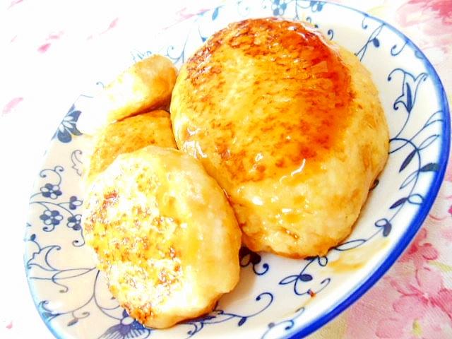 薩摩芋と鶏と豆腐の甘辛ハンバーグ