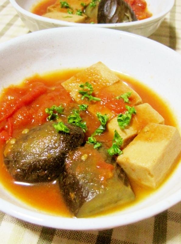 茄子&高野豆腐de洋風トマト煮