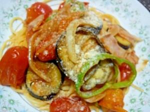 夏野菜で♪簡単トマトパスタ