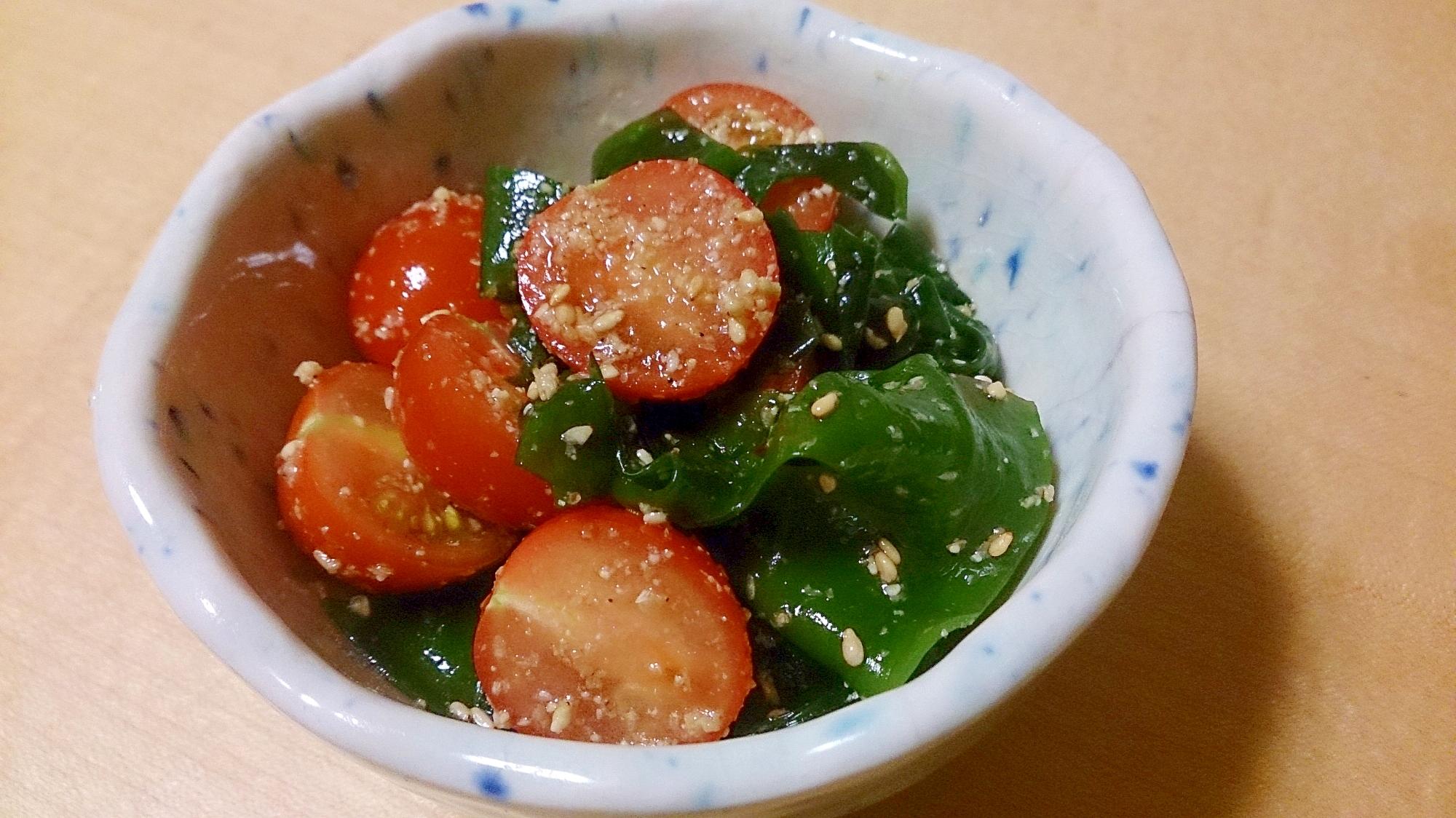 ワカメ&トマトの合えもの~食材2点で簡単副菜
