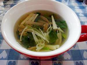 筍とザーサイのスープ