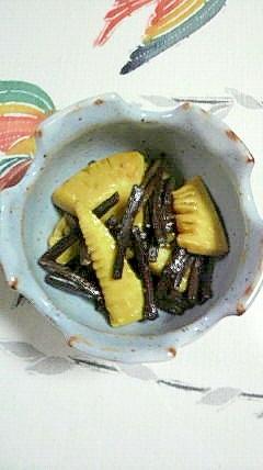 わらびと筍の炒め物