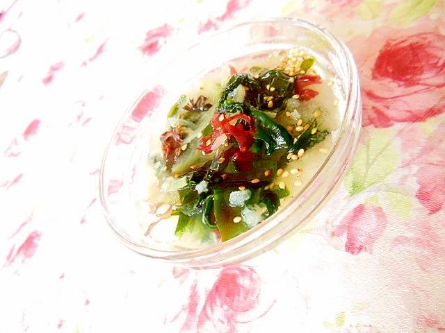 ツーンと海藻サラダと大根おろしと玉葱のとりあえず