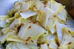 白菜のスパイス炒め