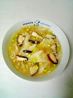市販品にひと手間☆海老ワンタン塩スープ☆