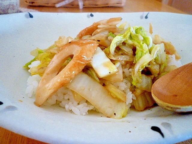 白菜消費!シンプル中華丼。