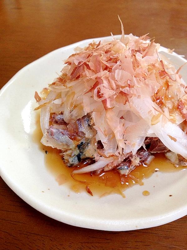 3. 鯖缶玉ねぎかつお節サラダ
