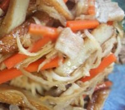 さつま揚げと豚肉の野菜炒め