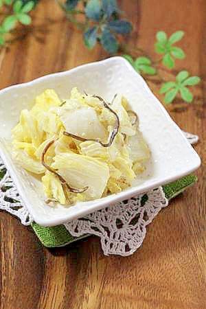 副菜にお勧め♪白菜の昆布和えマヨサラダ