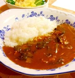 小松菜のカレーライス
