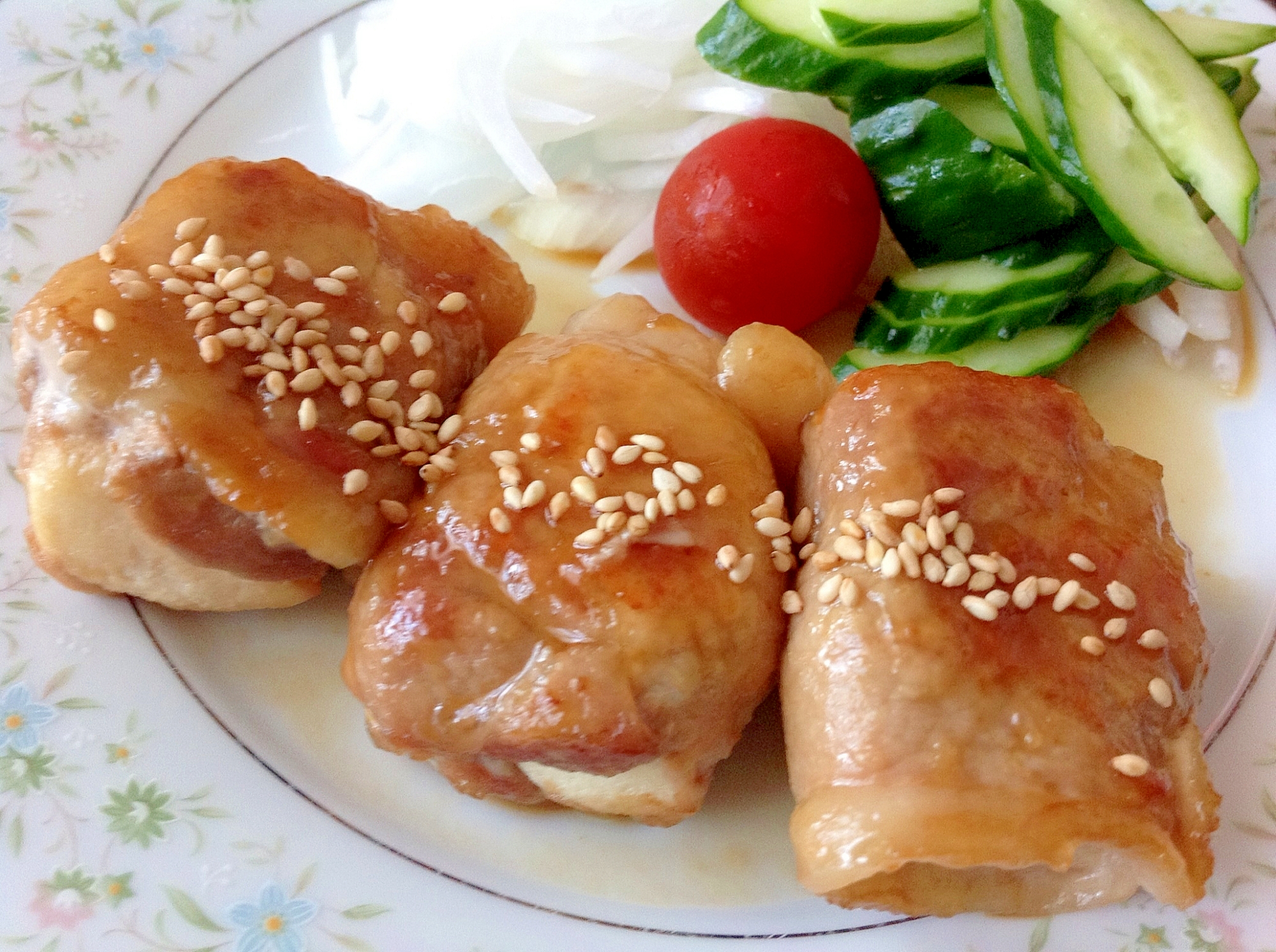 甘辛煮汁がジュ~☆高野豆腐の豚肉巻き