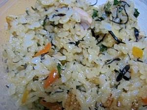 鶏肉とヒジキの炊き込みご飯