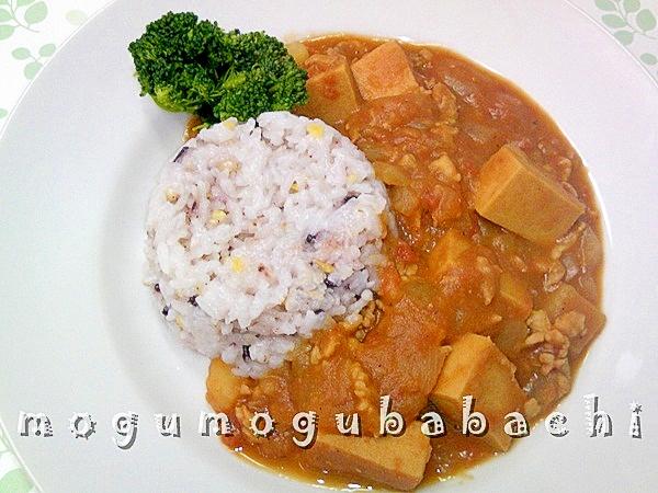 じゅわっと美味しい♪高野豆腐カレー