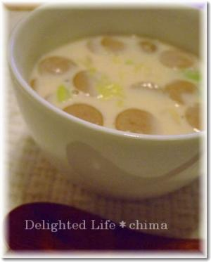 明太子とキャベツのミルクスープ