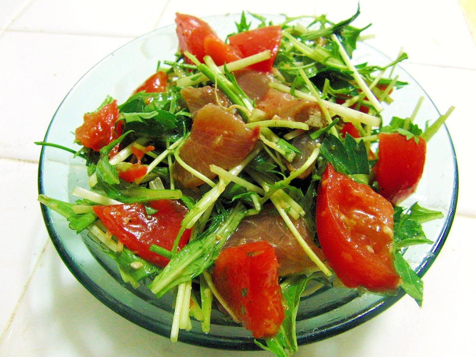 ヤズの生姜醤油麹漬けをサラダにremake