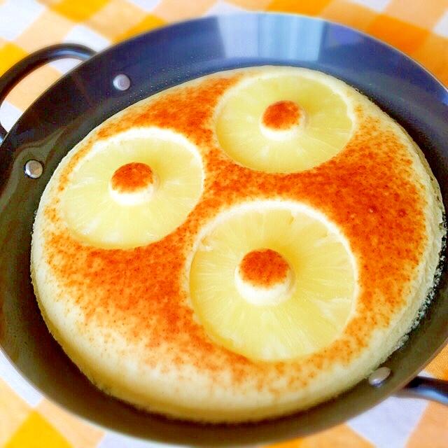 スキレットで焼き立てふわふわ~パンケーキ♪