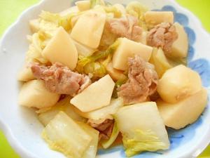 里芋 豚肉 煮物