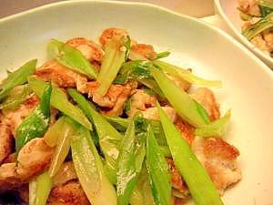 シンプル・ウマっ♪葱と鶏むね肉の中華炒め