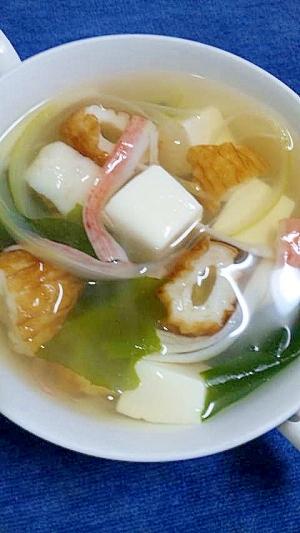 簡単!ちくわと豆腐のスープ