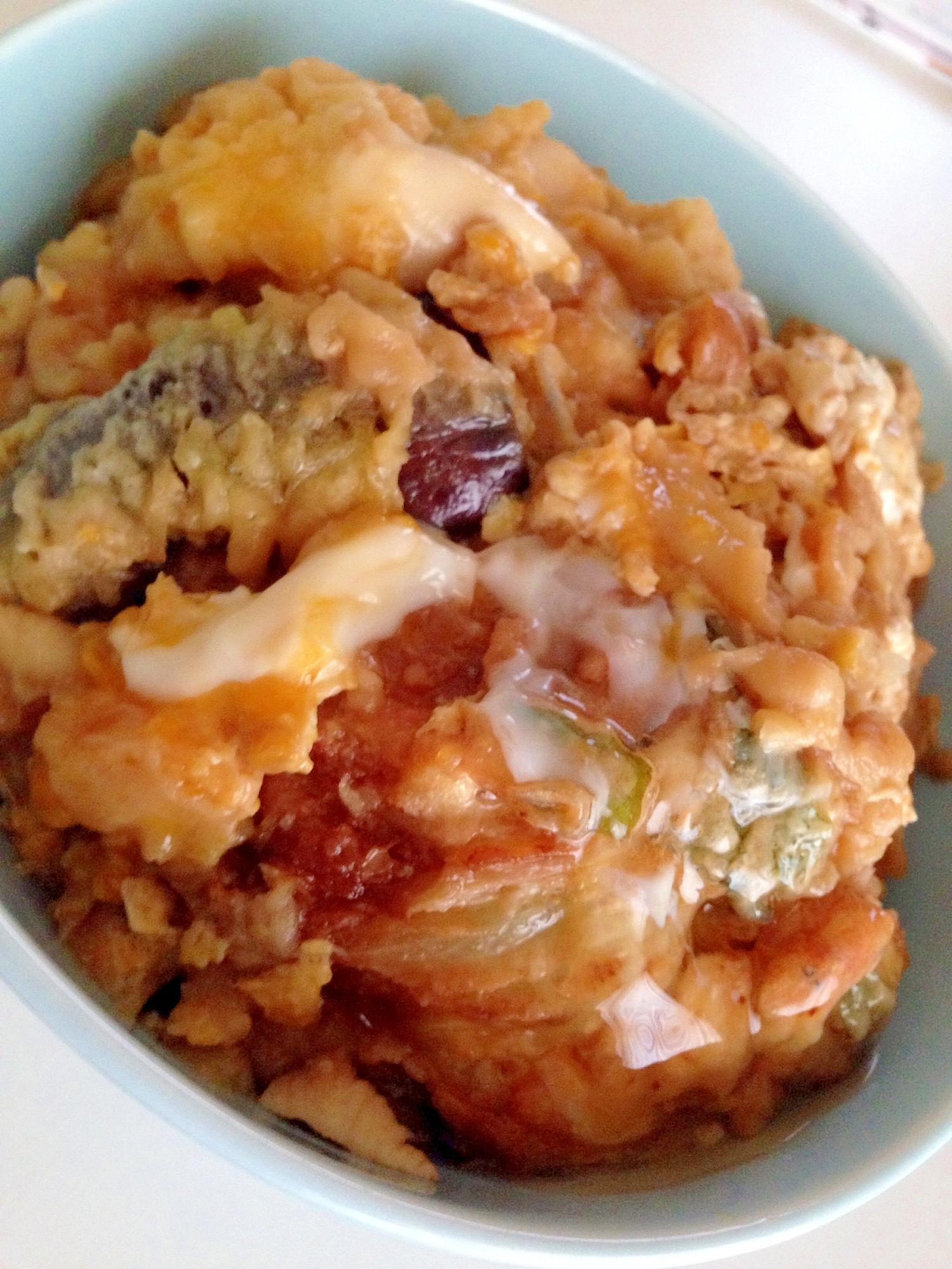 余った天ぷらで大盛り卵とじ天丼