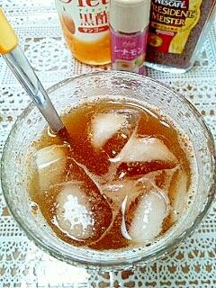 アイス☆シナモンマンゴー黒酢カフェ♪