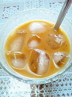 アイス☆パンプキン黒ごまきなこミルクティー♪