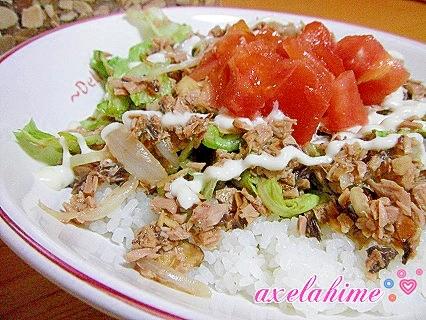 高知特産「焼き鰹」でサラダ鰹丼