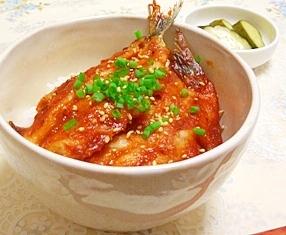 少しピリ辛が美味しい★韓国風イワシどんぶり♪