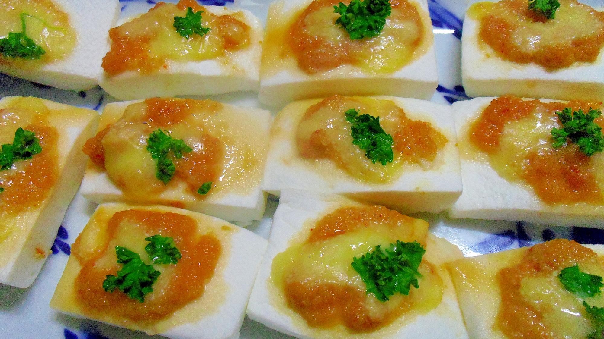 4. はんぺんの明太チーズ焼き