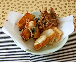 効率良い献立♪とろろ飯の後日の野菜天ぷら