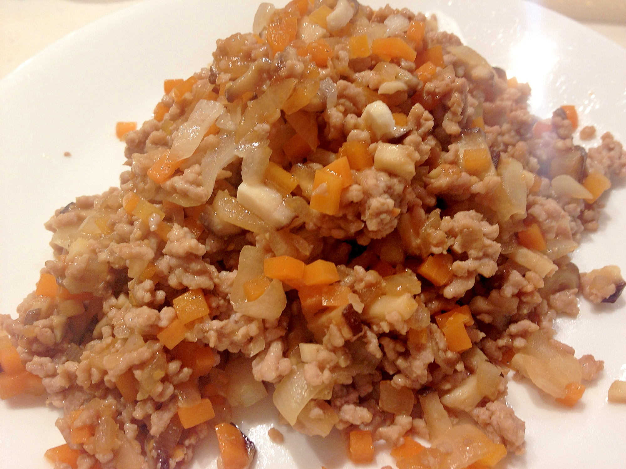 作り置き幼児食 野菜入り豚そぼろ レシピ・作り方