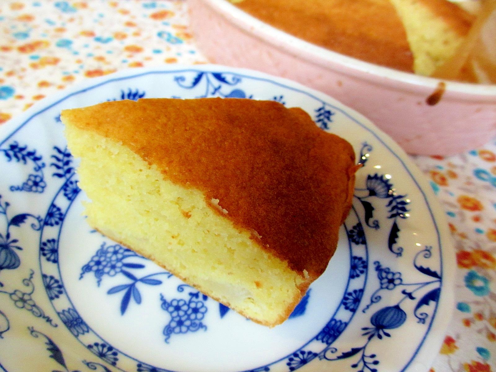 〔お手伝いレシピ〕洋ナシとおからの生クリームケーキ