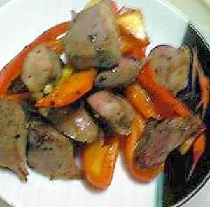 酒の肴:鶏砂肝の炒めもの