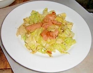 トキイロヒラタケの炒め物